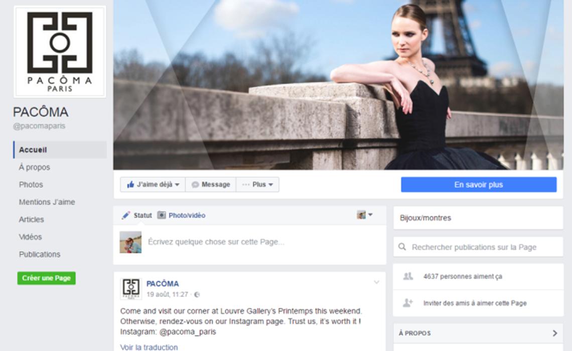 Pacôma Paris booste ses réseaux sociaux