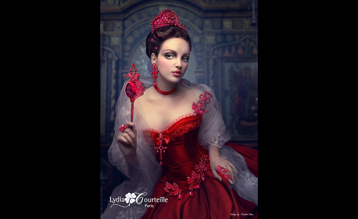 Le rouge glamour et flamboyant