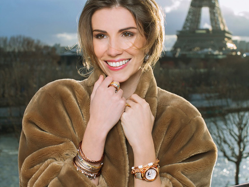 Alexandra Rosenfeld est élue égérie de Charriol