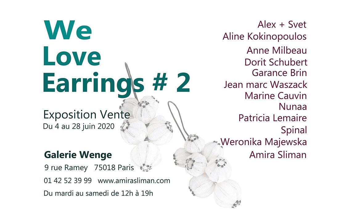 La Galerie Wenge rouvre ses portes avec son exposition We Love Earrings !