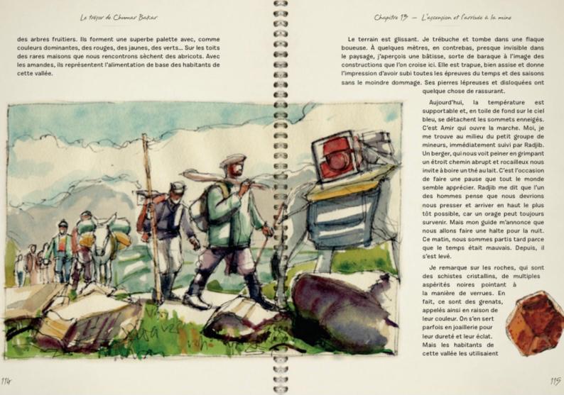 Patrick Voillot dévoile son nouveau carnet de voyage: le trésor de Chumar Bakar!